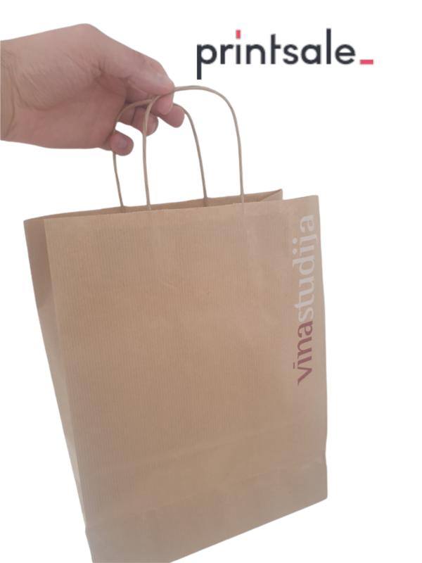 Kraft papīra maisiņi ar apdruku
