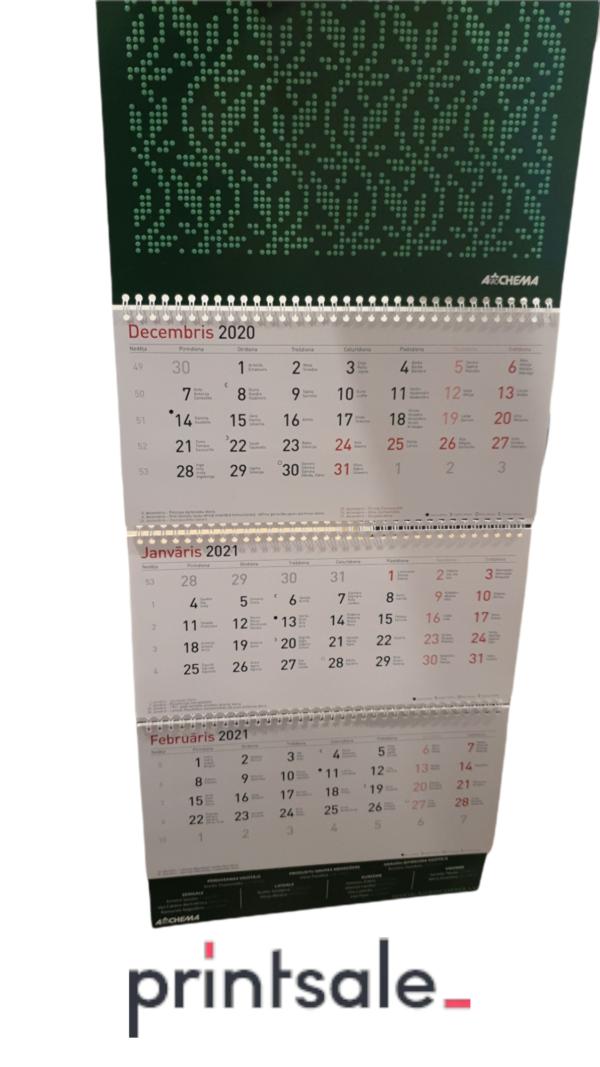četrdaļīgie sienas kalendāri printsale